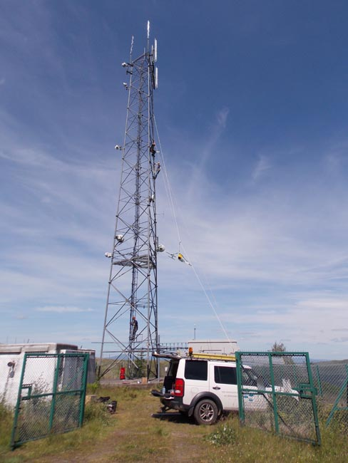 TNP rigging new radio equipment in Stirlingshire