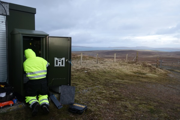 TNP fitting out a remote cabinet on Shetland