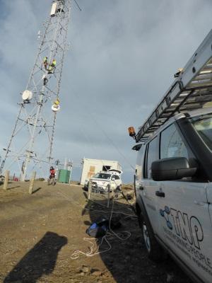 TNP rigging new radio equipment in Shetland
